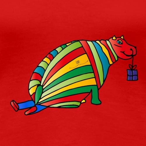 Hippo Christmas - Frauen Premium T-Shirt