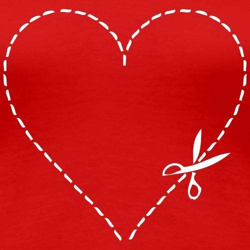 Coeur decoupe - T-shirt Premium Femme