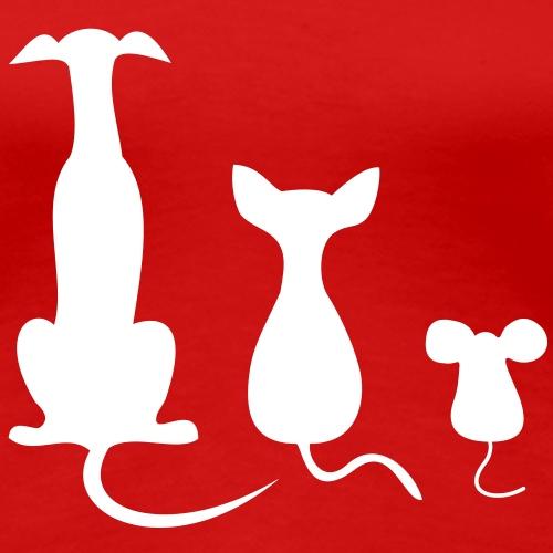 dog cat mouse - Frauen Premium T-Shirt