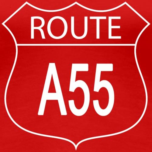 Route A55 - Women's Premium T-Shirt