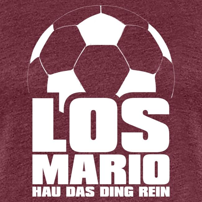 Fußball - Los Mario, hau das Ding rein (weiss)