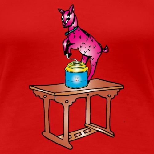 Weihnachts- Ziege - Frauen Premium T-Shirt