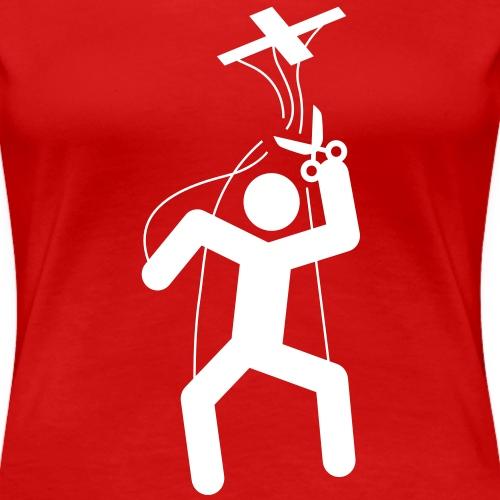 Motif marionnette à fil - Libérez-vous ! - T-shirt Premium Femme