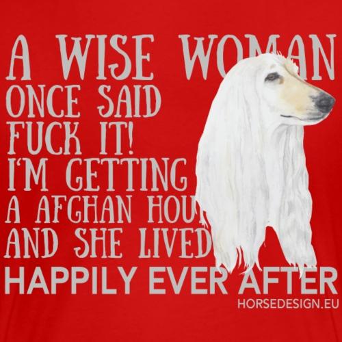 Fuck it - Afghanischer Windhund Spruch - Frauen Premium T-Shirt
