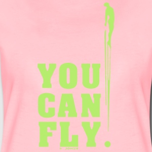 you can fly LATERAL GREEN - Camiseta premium mujer
