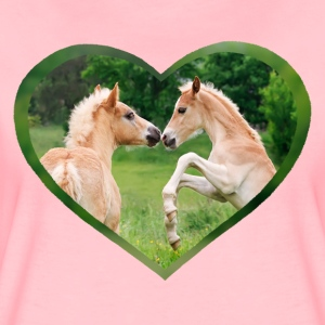 Haflinger foal funny friends with heart - Women's Premium T-Shirt