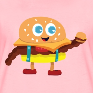 Cute Burger - Premium T-skjorte for kvinner
