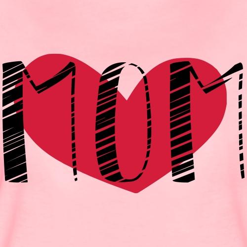 Mutter mit Herz - Frauen Premium T-Shirt