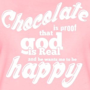 CHOCOLATE IS PROOF white - Women's Premium T-Shirt