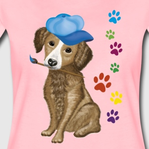 Dog Maler - Frauen Premium T-Shirt