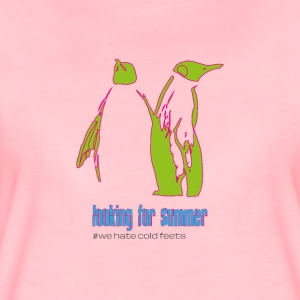 "Penguin couple ""looking for summer"" - Women's Premium T-Shirt"