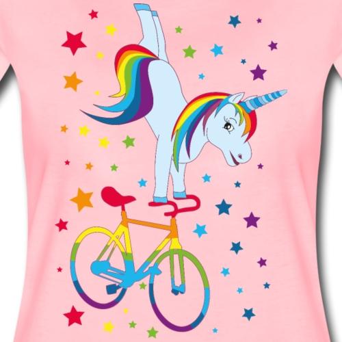 Kunstrad | Einhorn Handstand Regenbogen - Frauen Premium T-Shirt