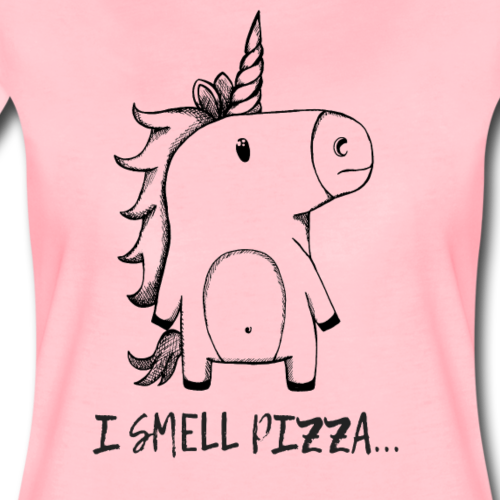 I smell Pizza - Unicorn - Frauen Premium T-Shirt