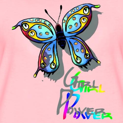 Schmetterling Girl Power - Frauen Premium T-Shirt