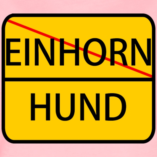 HUND VS EINHORN - Frauen Premium T-Shirt