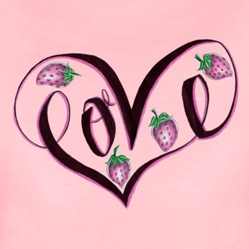 strawberry LOVE - Frauen Premium T-Shirt