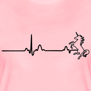 ECG HEART LINE UNIT black - Women's Premium T-Shirt