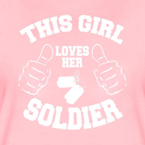 This Girl Loves her Soldier - Frauen Premium T-Shirt