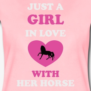 JUST A GIRL in Love with her Horse - Frauen Premium T-Shirt