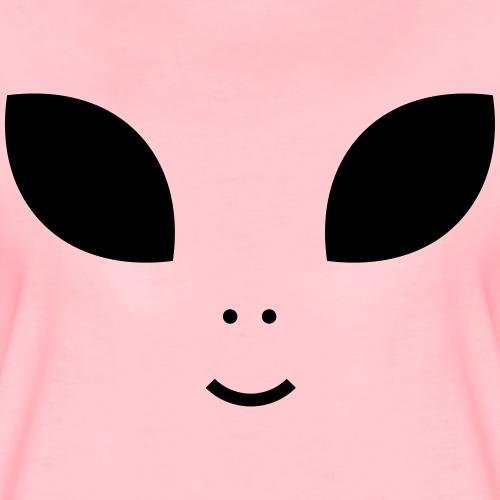 Alien Augen Gesicht - Frauen Premium T-Shirt
