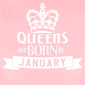 QUEENS BORN JANUARY - Frauen Premium T-Shirt