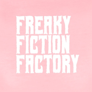 Freaky Fiction Factory Offical Logo Hvit - Premium T-skjorte for kvinner