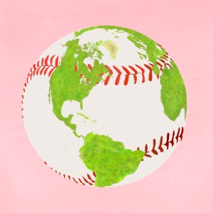 baseball globe earth planet jord kloden - Dame premium T-shirt