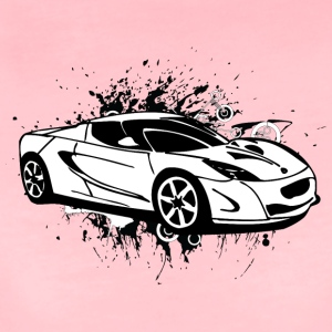 Cool white sportscar - Women's Premium T-Shirt
