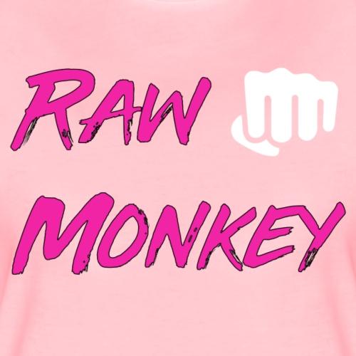 Pink Logo Raw Monkey - T-shirt Premium Femme
