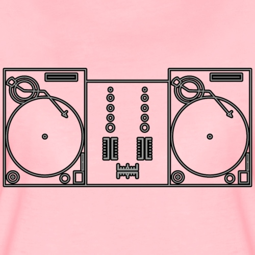 turntable only. - Camiseta premium mujer