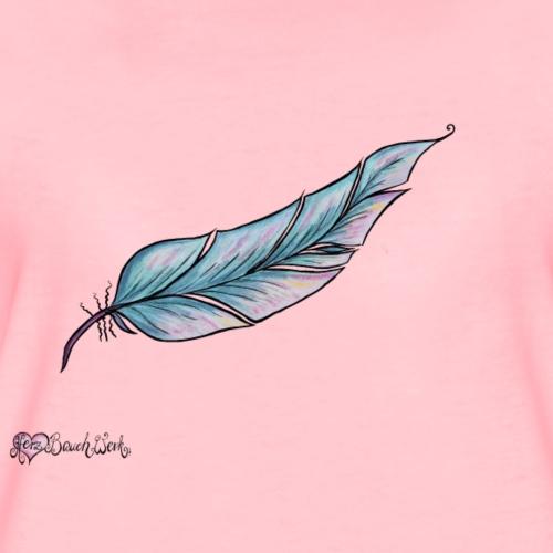 HerzBauchWerk Feder schlicht - Frauen Premium T-Shirt