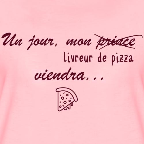 pizza first - T-shirt Premium Femme