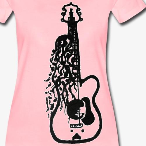Guitar woman - Koszulka damska Premium