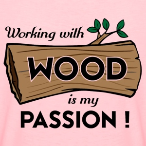Passion Art Wood - Premium-T-shirt dam