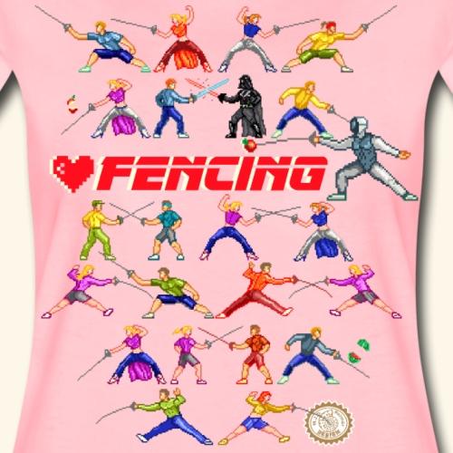 LOVE FENCING - Maglietta Premium da donna