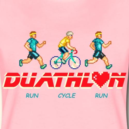 DUATHLON: RUN CYCLE RUN (MEN) - Maglietta Premium da donna