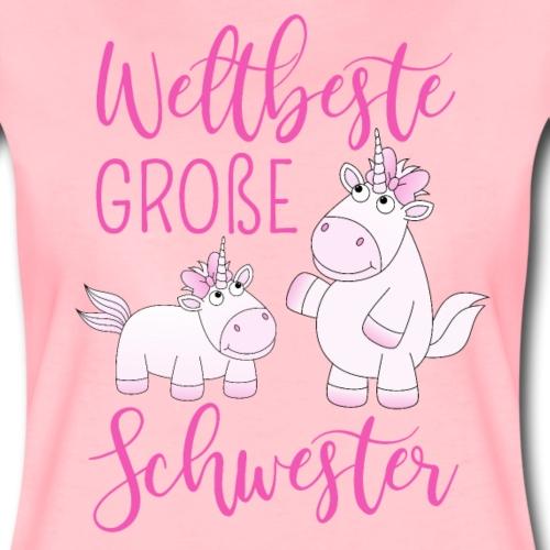 Weltbeste Große Schwester Einhorn Mädchen pink