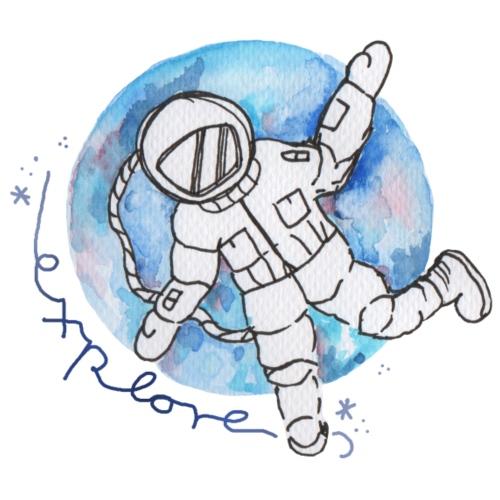 Astronaut explore universum - Frauen Premium T-Shirt