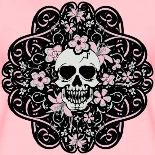 Girly Vintage Skull - Women's Premium T-Shirt
