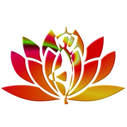 Motif lotus yoga - T-shirt Premium Femme