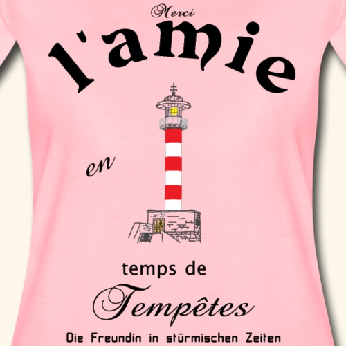 Freundin auf Französisch - Frauen Premium T-Shirt