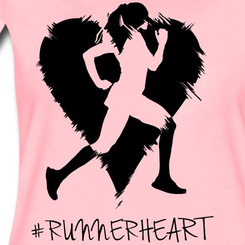 #Runnerheart girl - Frauen Premium T-Shirt