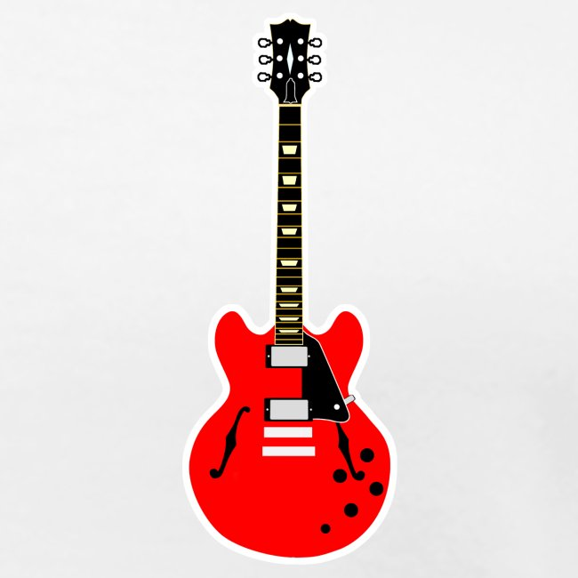 Guitare poitrine / Vully Blues Original noir dos