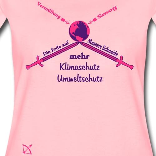 Die Welt auf Messers Schneide - Frauen Premium T-Shirt