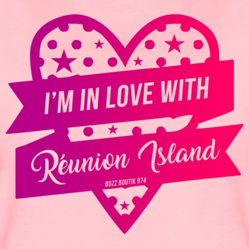 Collection femme I'M IN LOVE WITH REUNION ISLAND - T-shirt Premium Femme