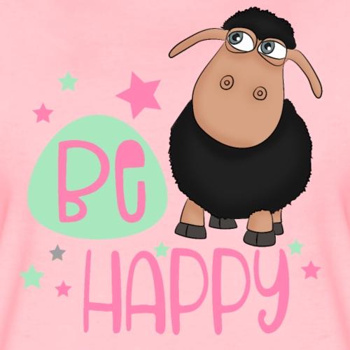 Schwarzes Schaf - be happy Schaf Glückliches Schaf - Frauen Premium T-Shirt