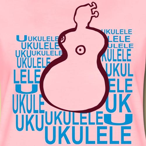 Motiv Ukulele la mer - Frauen Premium T-Shirt