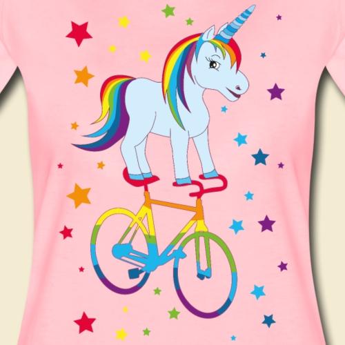 Kunstrad | Einhorn Regenbogen - Frauen Premium T-Shirt