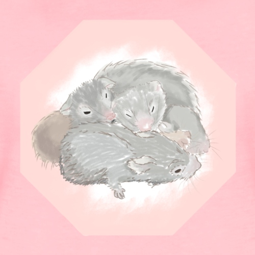 a snuggle of hamsters - Women's Premium T-Shirt