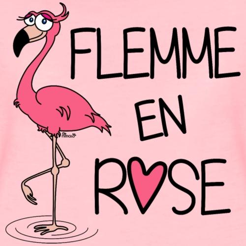 Flamant Rose / Flemme en Rose - T-shirt Premium Femme